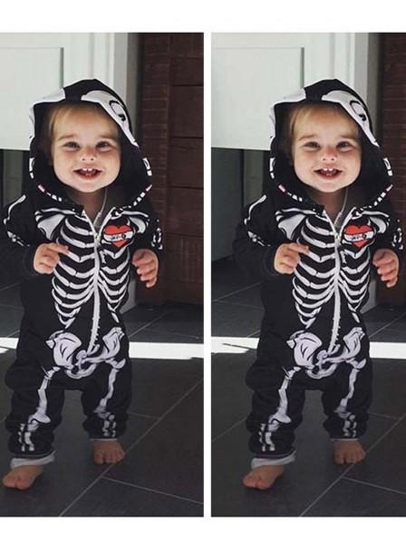 Skeleton Onesie Skull Pajamas Halloween Costumes for Baby
