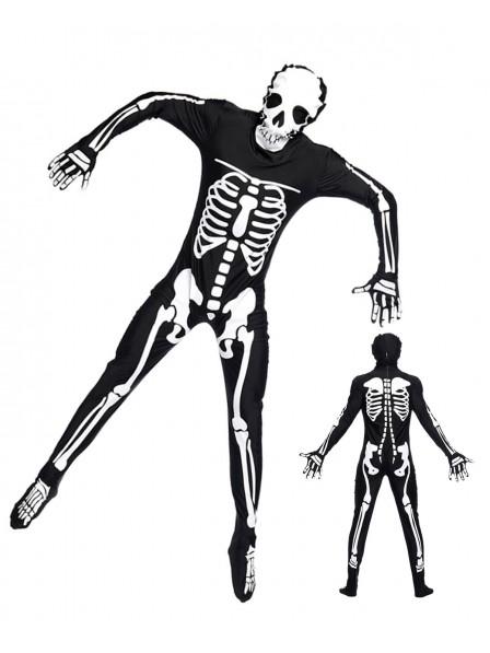 Skeleton Onesie Skull Pajamas Halloween Costumes for Adult