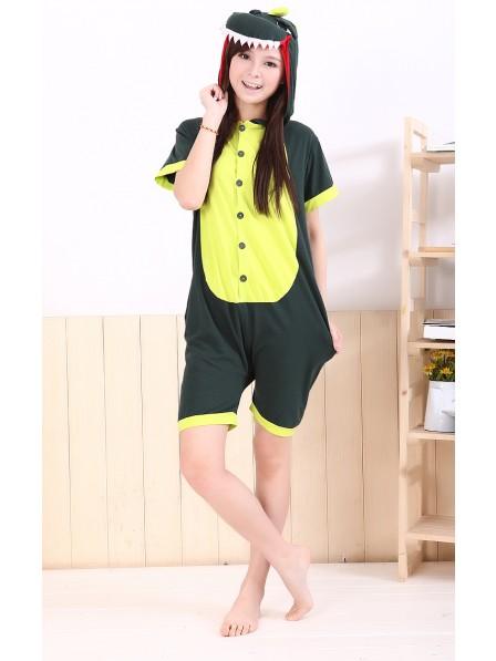 Green Dinosaur Onesie Short Sleeves Pajamas