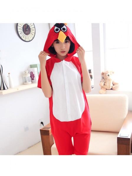 Red Angry Bird Onesie Short Sleeves Pajamas