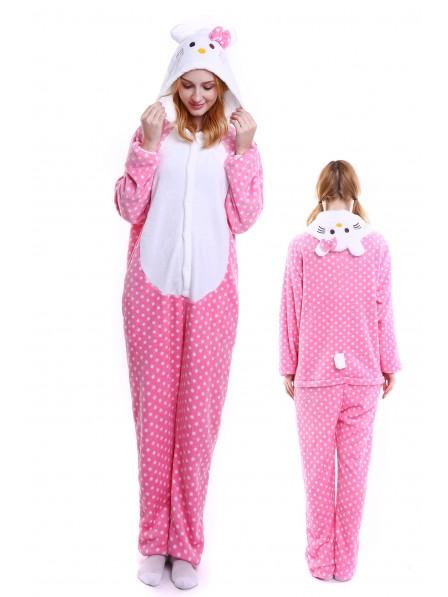 Pink Hello Kitty Onesie Pajamas Flannel
