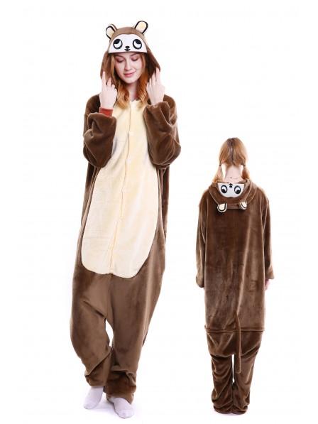 Monkey Onesie Pajamas Flannel