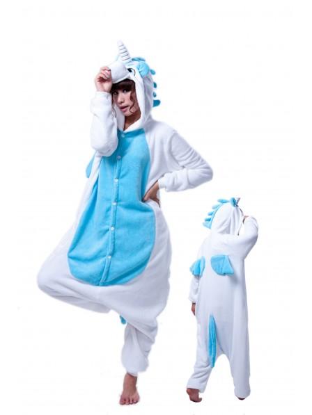 Blue Unicorn Onesie Pajamas Flannel