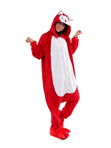 Red Fox Onesie Pajamas Flannel