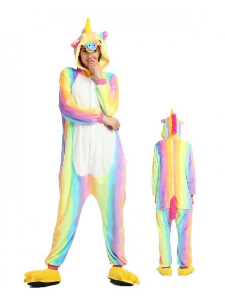 Rainbow Unicorn Onesie Pajamas Flannel