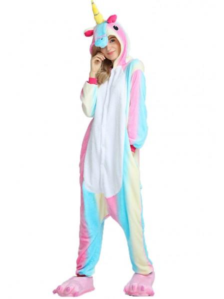 Colorful Unicorn Onesie Pajamas Flannel