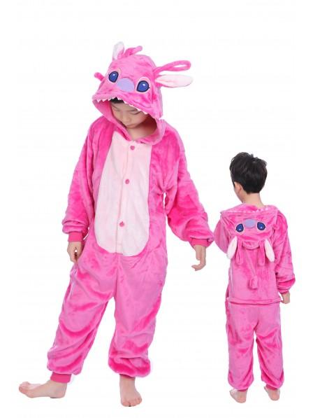 Pink Stitch Anagel Onesie Pajamas for Kids