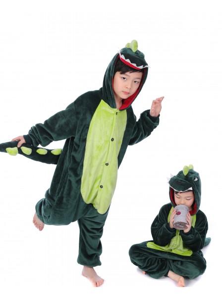 Green Dinosaur Onesie Pajamas for Kids