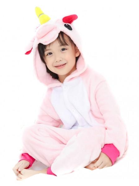 Pink Unicorn Onesie Pajamas for Kids