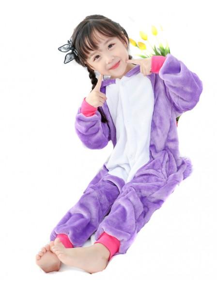 Purple Unicorn Onesie Pajamas for Kids