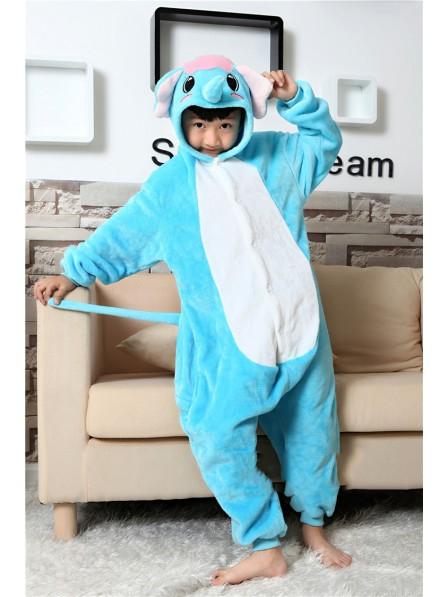 Blue Elephant Onesie Pajamas for Kids