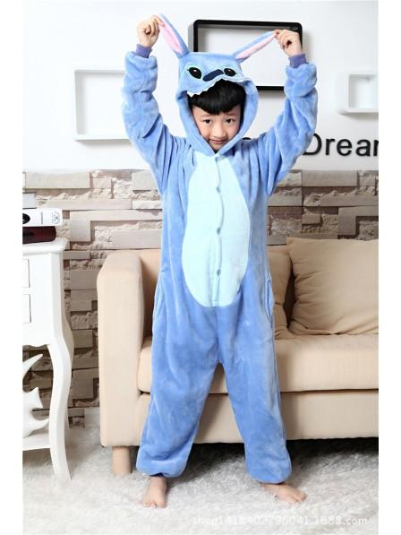 Blue Stitch Onesie Pajamas for Kids