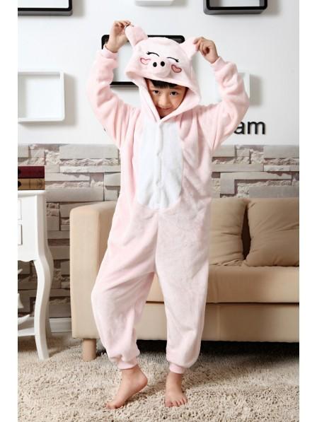 Pink Pig Onesie Pajamas for Kids