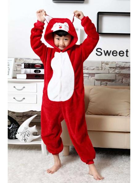 Red Fox Onesie Pajamas for Kids