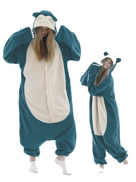 Snorlax Onesie Pajamas Pokemon Costume Polar Fleece