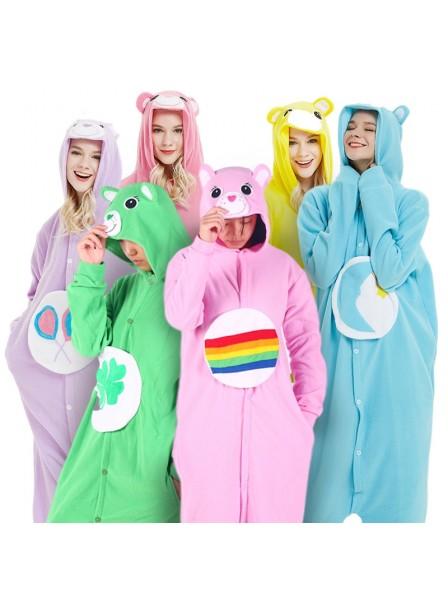 Care Bear Onesie Pajamas Costume Polar Fleece