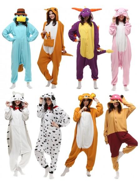 Animal Onesies for Adult Pajamas Polar Fleece