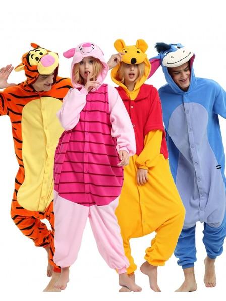 Winnie the Pooh Onesie & Tigger & Piglet & Eeyore Pajamas