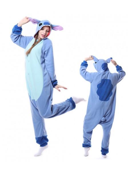 Blue Stitch Onesie Pajamas Polar Fleece