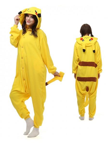Pikachu Onesie Pajamas Polar Fleece