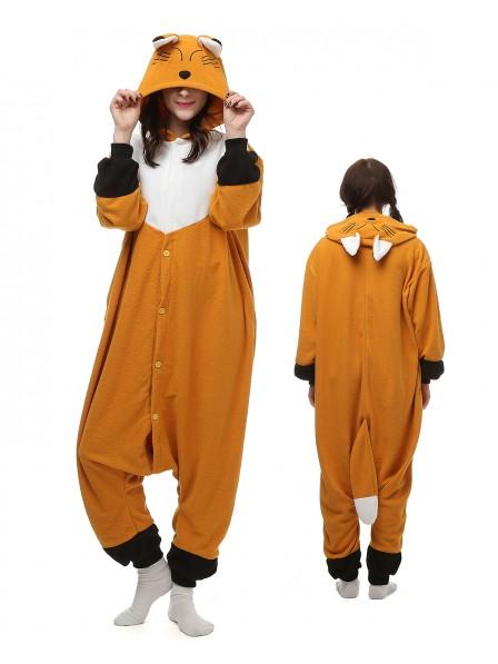 Japanese Red Fox Onesie Pajamas Polar Fleece