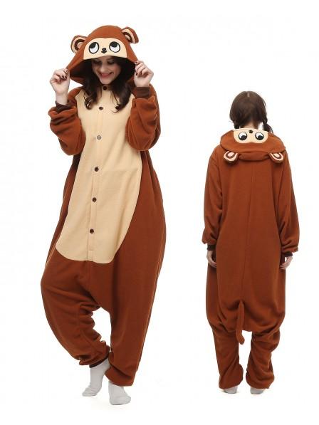 Monkey Onesie Pajamas Polar Fleece