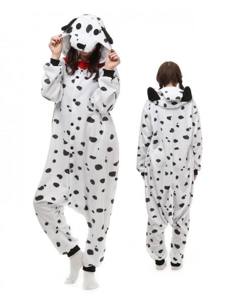 Spotted Dog Onesie Pajamas Polar Fleece