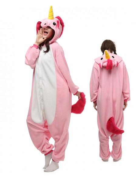 Pink Unicorn Onesie Pajamas Polar Fleece