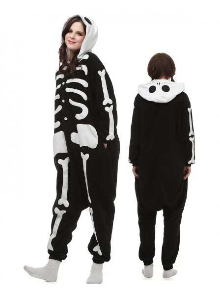 Skeleton Onesie Pajamas Polar Fleece