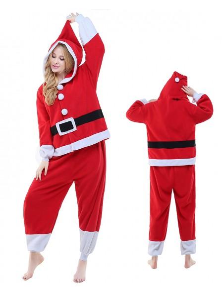Santa Onesie Pajamas Polar Fleece
