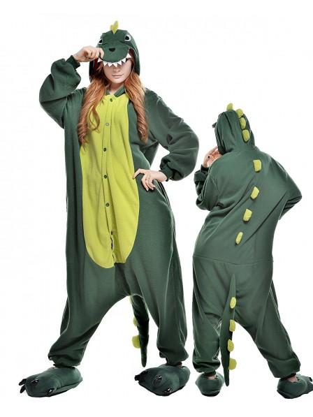 Green Dinosaur Onesie Pajamas Polar Fleece