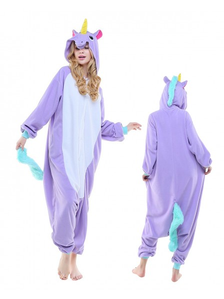 New Purple Unicorn Onesie Pajamas Polar Fleece