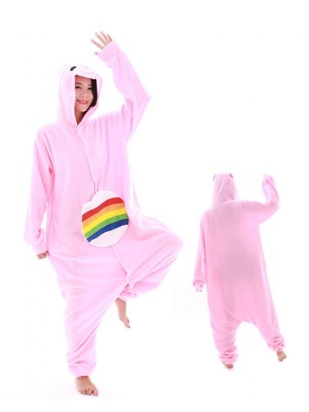 Rainbow Bear Unicorn Onesie Pajamas Polar Fleece
