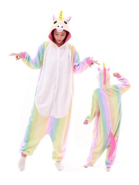 Pastel Hologram Unicorn Onesie Pajamas Polar Fleece