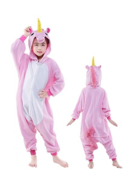 Pink Unicorn Onesie Kids Polar Fleece